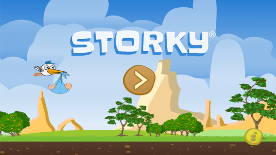 Illustrations, Storky - Start screen