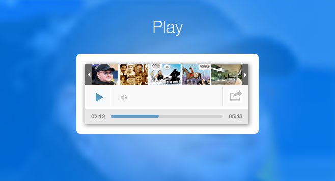 UI/UX - Voiices audio player